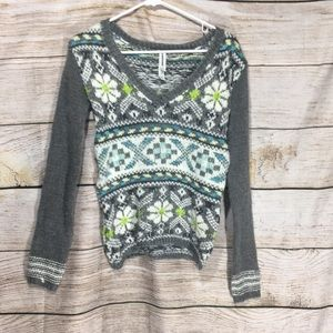Aeropostale xs sweater green blue abstract # 410